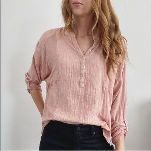 Lucky Brand Pink Boxy Top